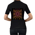 A Flaming Star Is Born On The  Metal Sky Women s T-Shirt (Black) (Two Sided) Back