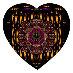 A Flaming Star Is Born On The  Metal Sky Jigsaw Puzzle (heart) by pepitasart