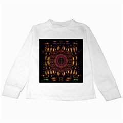 A Flaming Star Is Born On The  Metal Sky Kids Long Sleeve T Shirts by pepitasart