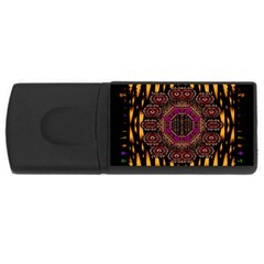 A Flaming Star Is Born On The  Metal Sky Rectangular Usb Flash Drive by pepitasart