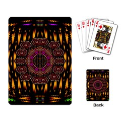 A Flaming Star Is Born On The  Metal Sky Playing Card by pepitasart