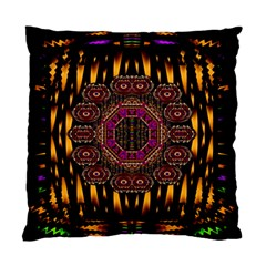 A Flaming Star Is Born On The  Metal Sky Standard Cushion Case (two Sides) by pepitasart