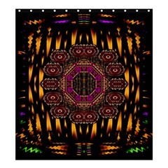 A Flaming Star Is Born On The  Metal Sky Shower Curtain 66  X 72  (large)  by pepitasart
