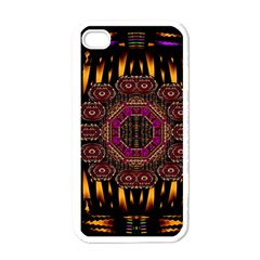 A Flaming Star Is Born On The  Metal Sky Apple Iphone 4 Case (white) by pepitasart