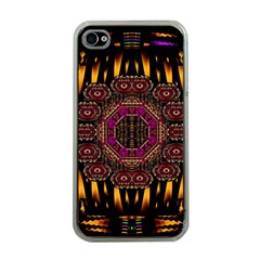 A Flaming Star Is Born On The  Metal Sky Apple Iphone 4 Case (clear) by pepitasart