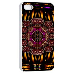 A Flaming Star Is Born On The  Metal Sky Apple Iphone 4/4s Seamless Case (white) by pepitasart