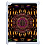 A Flaming Star Is Born On The  Metal Sky Apple iPad 2 Case (White) Front