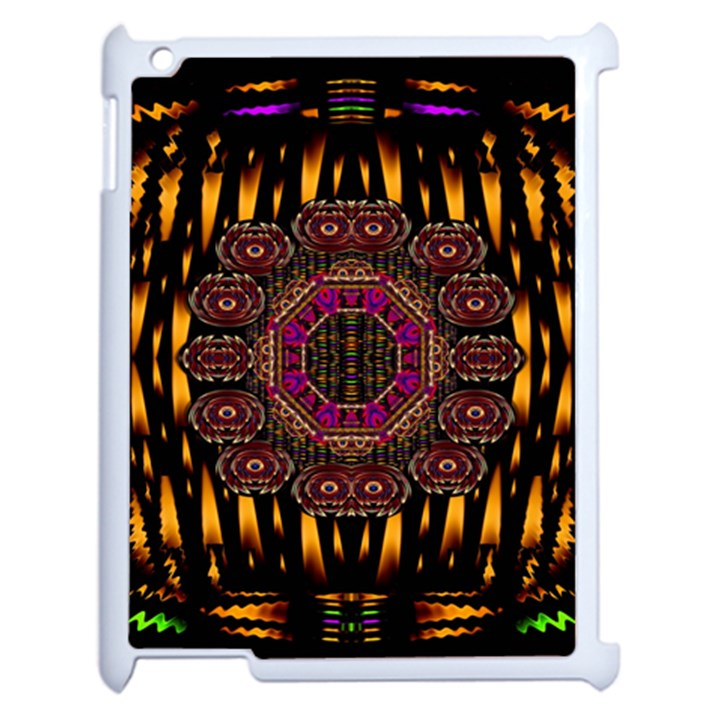 A Flaming Star Is Born On The  Metal Sky Apple iPad 2 Case (White)