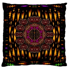 A Flaming Star Is Born On The  Metal Sky Large Cushion Case (one Side) by pepitasart
