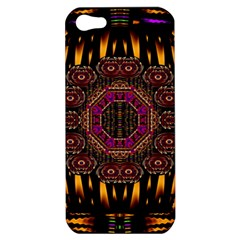 A Flaming Star Is Born On The  Metal Sky Apple Iphone 5 Hardshell Case by pepitasart