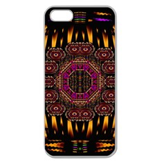 A Flaming Star Is Born On The  Metal Sky Apple Seamless Iphone 5 Case (clear) by pepitasart