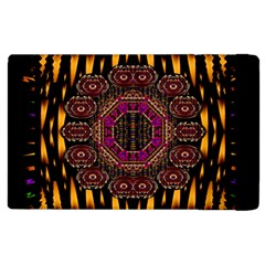 A Flaming Star Is Born On The  Metal Sky Apple Ipad 3/4 Flip Case by pepitasart