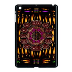 A Flaming Star Is Born On The  Metal Sky Apple Ipad Mini Case (black) by pepitasart