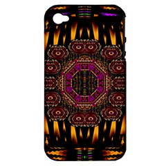 A Flaming Star Is Born On The  Metal Sky Apple Iphone 4/4s Hardshell Case (pc+silicone) by pepitasart