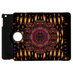 A Flaming Star Is Born On The  Metal Sky Apple Ipad Mini Flip 360 Case by pepitasart