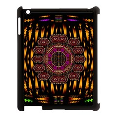 A Flaming Star Is Born On The  Metal Sky Apple Ipad 3/4 Case (black) by pepitasart