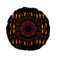 A Flaming Star Is Born On The  Metal Sky Standard 15  Premium Round Cushions by pepitasart