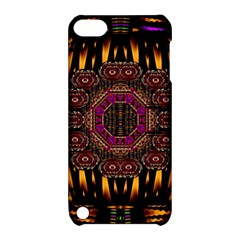 A Flaming Star Is Born On The  Metal Sky Apple Ipod Touch 5 Hardshell Case With Stand by pepitasart