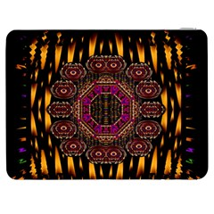 A Flaming Star Is Born On The  Metal Sky Samsung Galaxy Tab 7  P1000 Flip Case by pepitasart