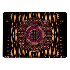 A Flaming Star Is Born On The  Metal Sky Samsung Galaxy Tab 10 1  P7500 Flip Case by pepitasart