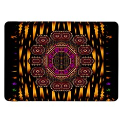 A Flaming Star Is Born On The  Metal Sky Samsung Galaxy Tab 8 9  P7300 Flip Case by pepitasart