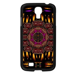 A Flaming Star Is Born On The  Metal Sky Samsung Galaxy S4 I9500/ I9505 Case (black) by pepitasart