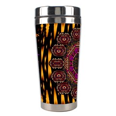 A Flaming Star Is Born On The  Metal Sky Stainless Steel Travel Tumblers by pepitasart