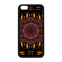 A Flaming Star Is Born On The  Metal Sky Apple Iphone 5c Seamless Case (black) by pepitasart