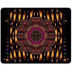A Flaming Star Is Born On The  Metal Sky Double Sided Fleece Blanket (medium)  by pepitasart