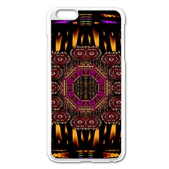 A Flaming Star Is Born On The  Metal Sky Apple Iphone 6 Plus/6s Plus Enamel White Case by pepitasart