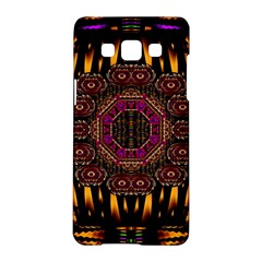 A Flaming Star Is Born On The  Metal Sky Samsung Galaxy A5 Hardshell Case  by pepitasart