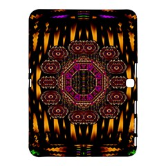 A Flaming Star Is Born On The  Metal Sky Samsung Galaxy Tab 4 (10 1 ) Hardshell Case  by pepitasart