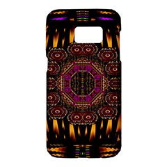 A Flaming Star Is Born On The  Metal Sky Samsung Galaxy S7 Hardshell Case  by pepitasart