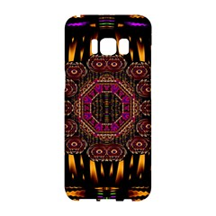 A Flaming Star Is Born On The  Metal Sky Samsung Galaxy S8 Hardshell Case  by pepitasart