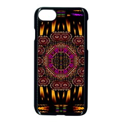 A Flaming Star Is Born On The  Metal Sky Apple Iphone 8 Seamless Case (black) by pepitasart