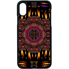 A Flaming Star Is Born On The  Metal Sky Apple Iphone X Seamless Case (black) by pepitasart