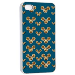 Cartoon Animals In Gold And Silver Gift Decorations Apple Iphone 4/4s Seamless Case (white) by pepitasart