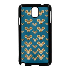 Cartoon Animals In Gold And Silver Gift Decorations Samsung Galaxy Note 3 Neo Hardshell Case (black) by pepitasart