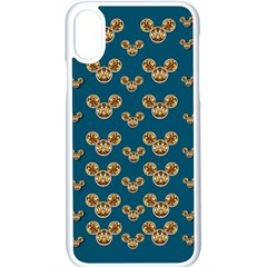 Cartoon Animals In Gold And Silver Gift Decorations Apple Iphone X Seamless Case (white) by pepitasart