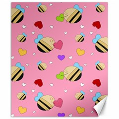 Bee Mine Valentine Canvas 8  X 10  by allthingseveryday