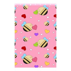 Bee Mine Valentine Shower Curtain 48  X 72  (small)  by allthingseveryday