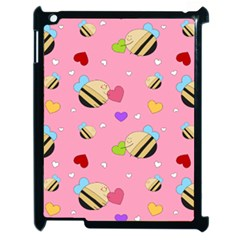 Bee Mine Valentine Apple Ipad 2 Case (black) by allthingseveryday