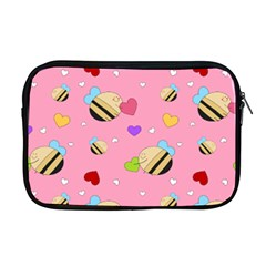Bee Mine Valentine Apple Macbook Pro 17  Zipper Case by allthingseveryday