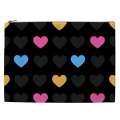 Emo Heart Pattern Cosmetic Bag (xxl)  by allthingseveryday