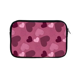 Mauve Valentine Heart Pattern Apple Macbook Pro 13  Zipper Case by allthingseveryday