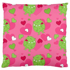 Monster Love Pattern Large Cushion Case (two Sides) by allthingseveryday