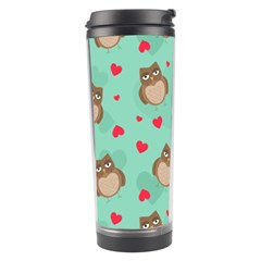 Owl Valentine s Day Pattern Travel Tumbler by allthingseveryday