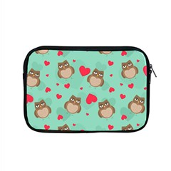 Owl Valentine s Day Pattern Apple Macbook Pro 15  Zipper Case by allthingseveryday