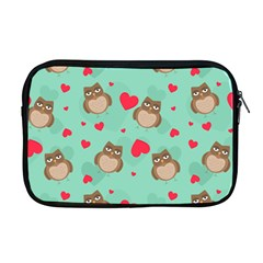 Owl Valentine s Day Pattern Apple Macbook Pro 17  Zipper Case by allthingseveryday