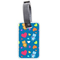 Robot Love Pattern Luggage Tags (two Sides) by allthingseveryday